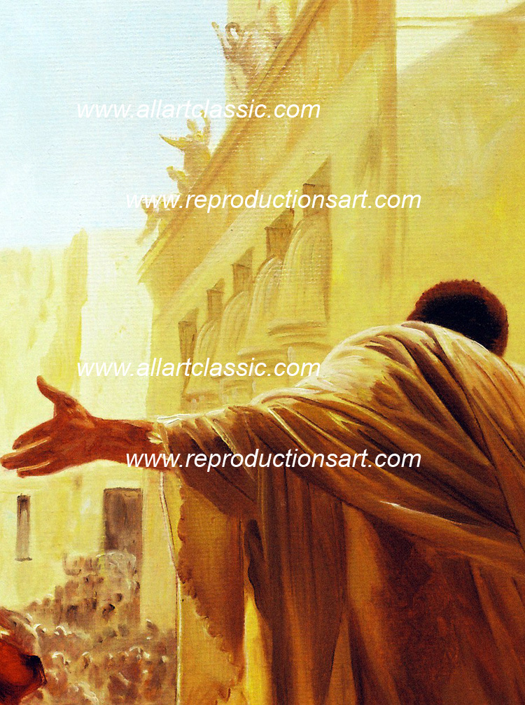 Art Reproductions Ciseri_Ecce_Homo_001N_B. Our Oil Painting Reproduction -Zoom Details