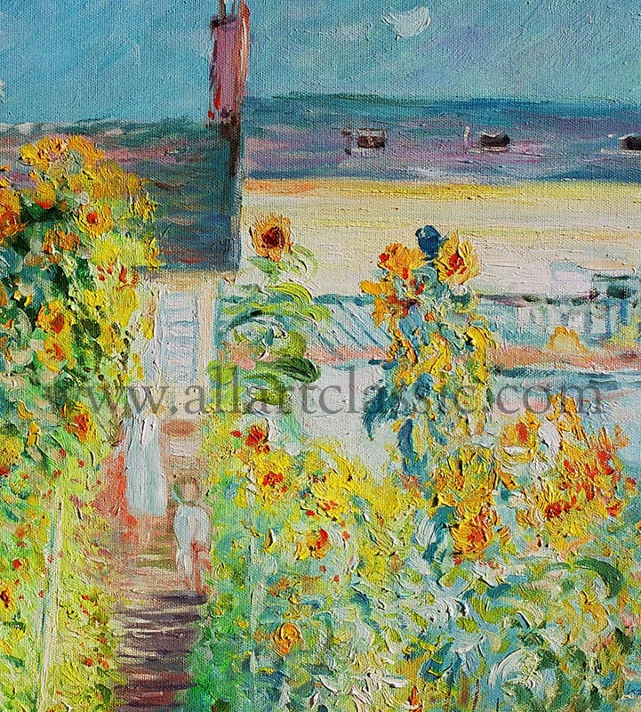 Art Reproductions Claude_Monet_MOC011N_A. Our Oil Painting Reproduction -Zoom Details