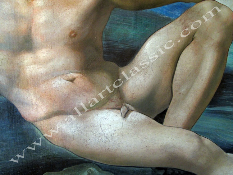 Art Reproductions Creation_of_Adam_Michelangelo_L_D. Our Oil Painting Reproduction -Zoom Details