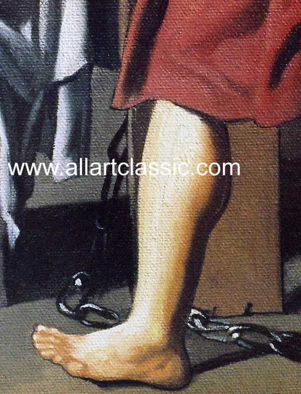 Art Reproductions David_Paintings_001N_B. Our Oil Painting Reproduction -Zoom Details