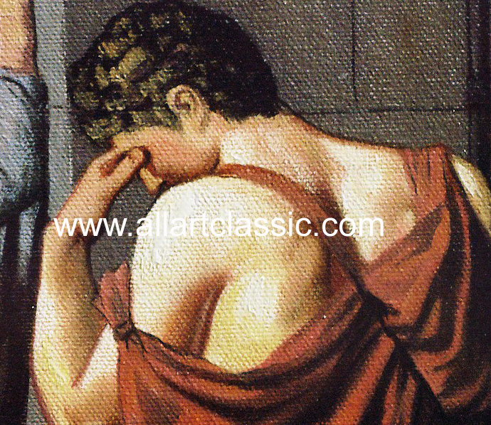 Art Reproductions David_Paintings_001N_C. Our Oil Painting Reproduction -Zoom Details