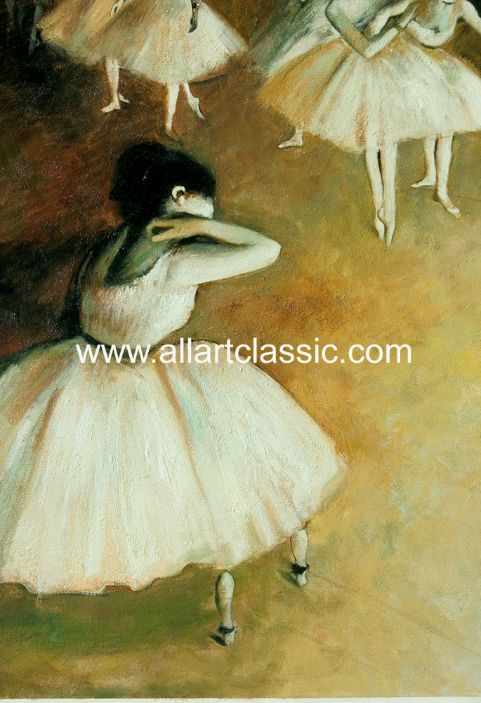 Art Reproductions Degas_Paintings_001N_B. Our Oil Painting Reproduction -Zoom Details