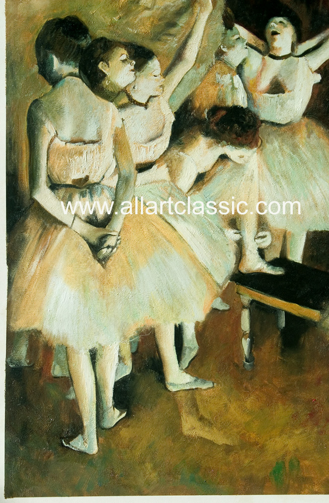 Art Reproductions Degas_Paintings_001N_C. Our Oil Painting Reproduction -Zoom Details