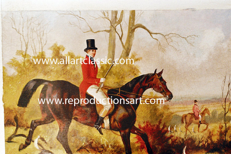 Art Reproductions Equestrian-painting_B. Our Oil Painting Reproduction -Zoom Details