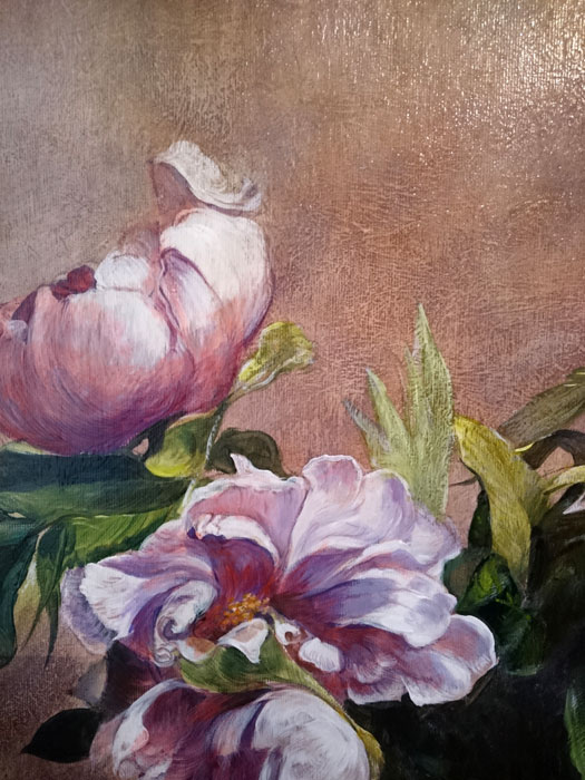 Art Reproductions Flowers-Canvas-Painting_C. Our Oil Painting Reproduction -Zoom Details