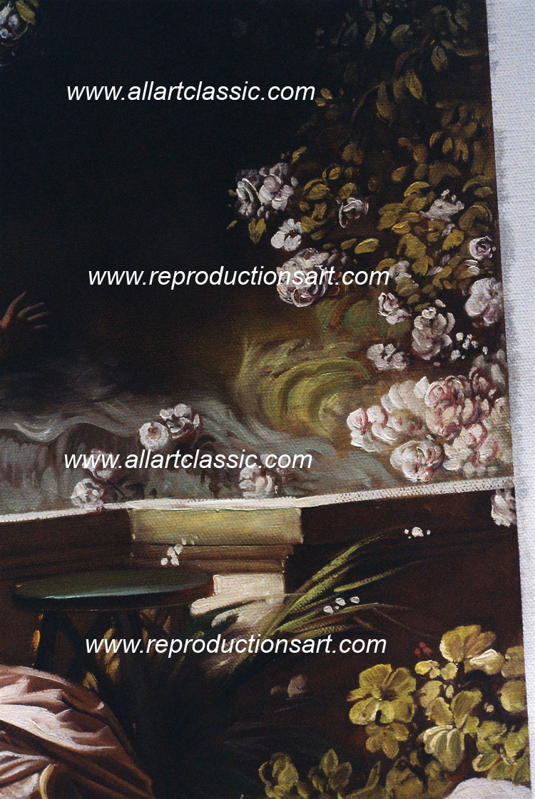 Art Reproductions Fragonard-painting_003N_B. Our Oil Painting Reproduction -Zoom Details