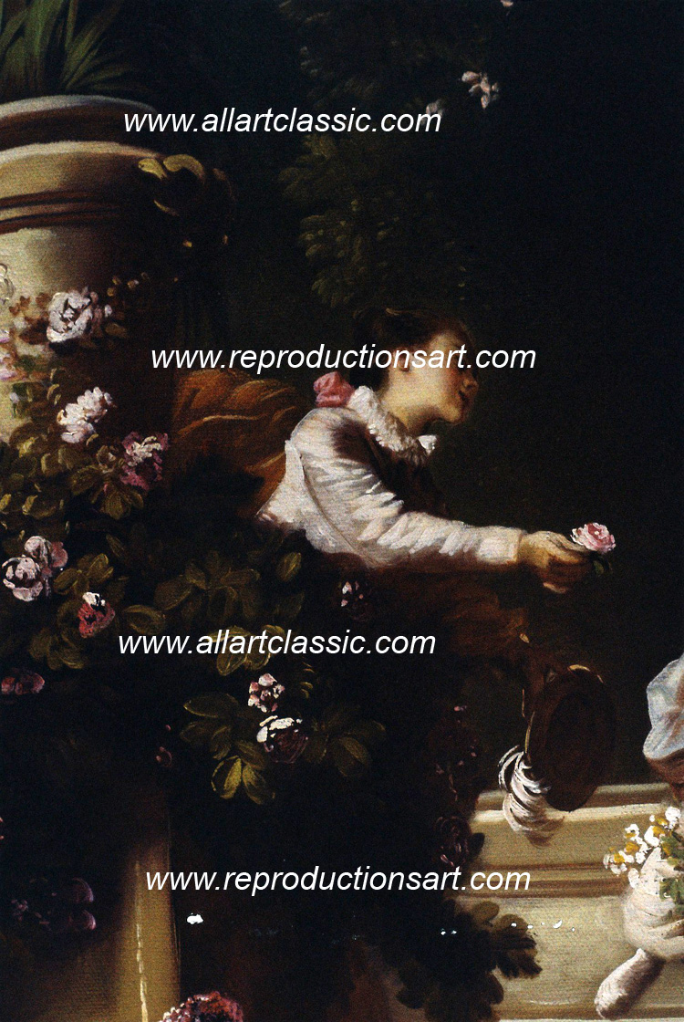 Art Reproductions Fragonard-painting_003N_C. Our Oil Painting Reproduction -Zoom Details