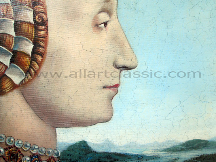 Art Reproductions Francesca-Painting-L_C. Our Oil Painting Reproduction -Zoom Details