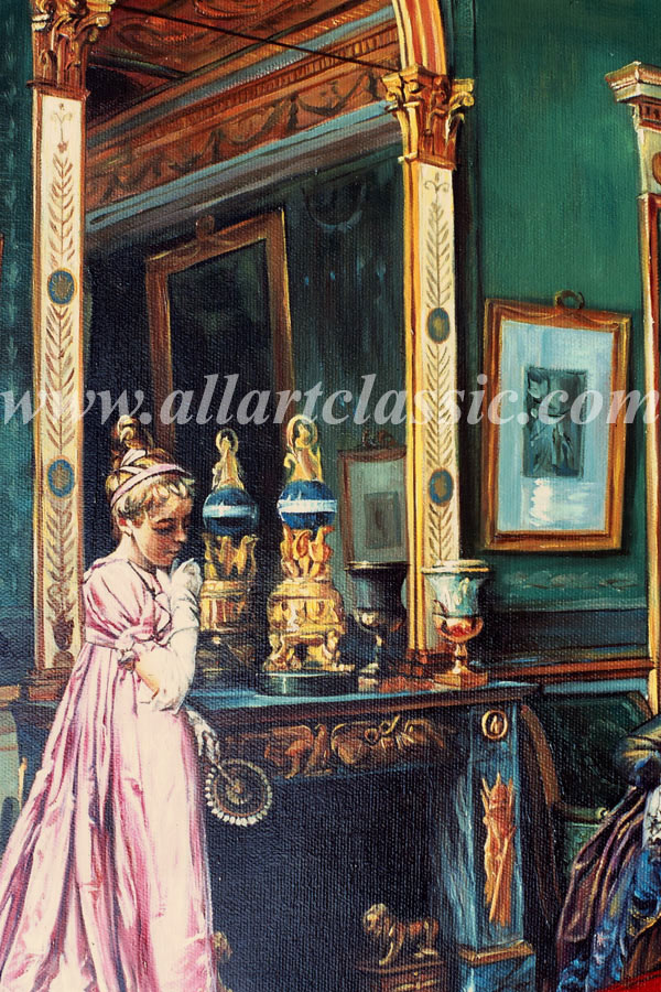 Art Reproductions Francois_Brunery_BRU075N_B. Our Oil Painting Reproduction -Zoom Details
