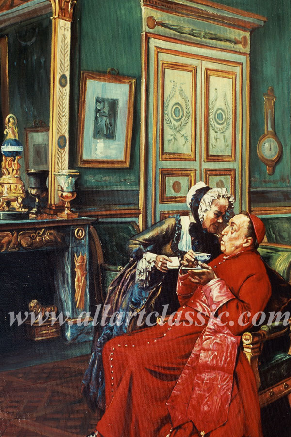 Art Reproductions Francois_Brunery_BRU075N_D. Our Oil Painting Reproduction -Zoom Details