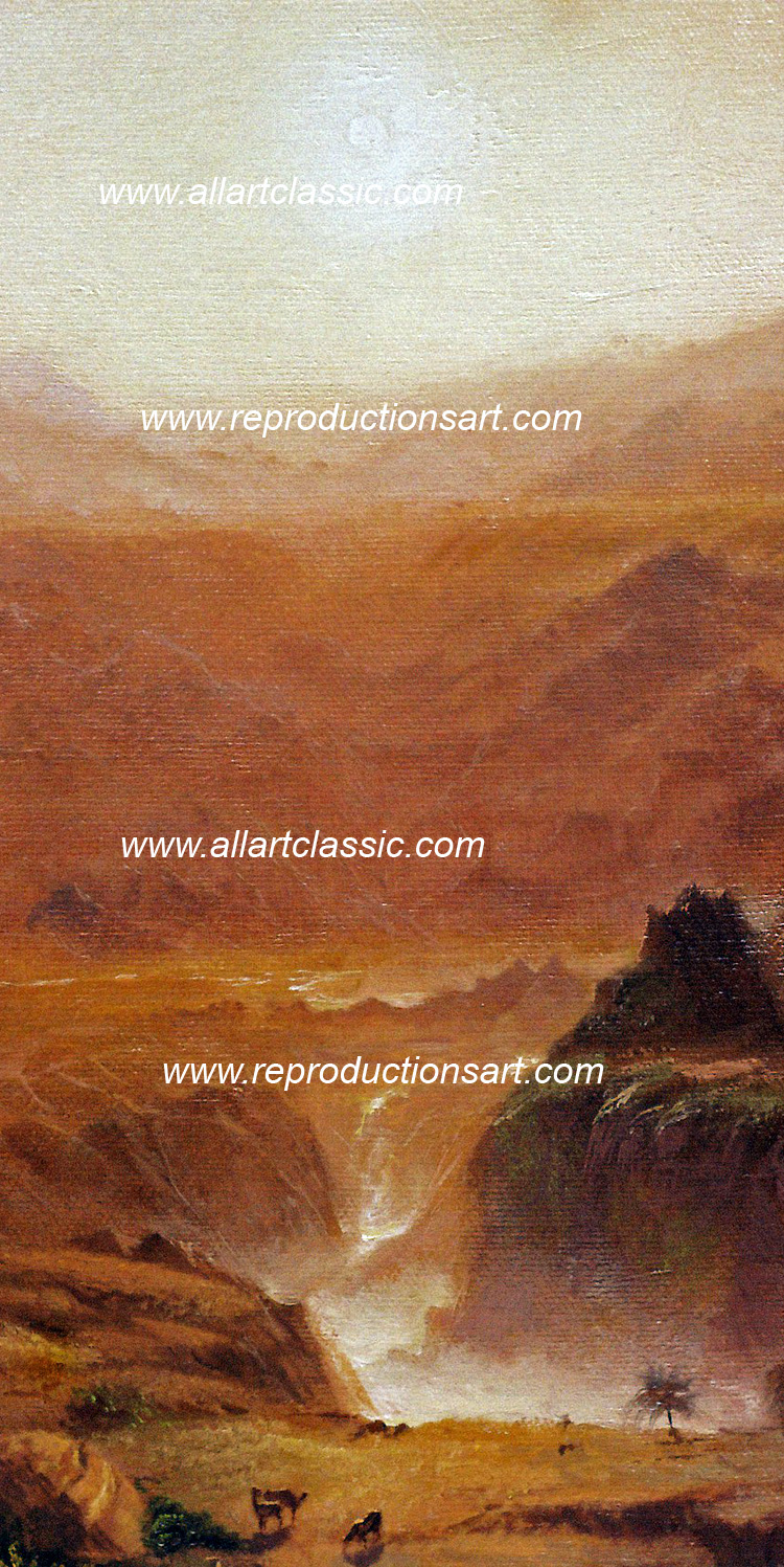Art Reproductions Frederic_Church_001N_A. Our Oil Painting Reproduction -Zoom Details