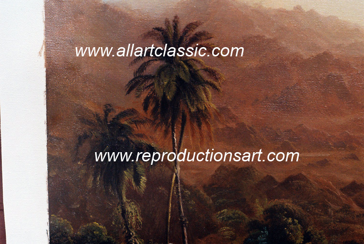 Art Reproductions Frederic_Church_001N_B. Our Oil Painting Reproduction -Zoom Details