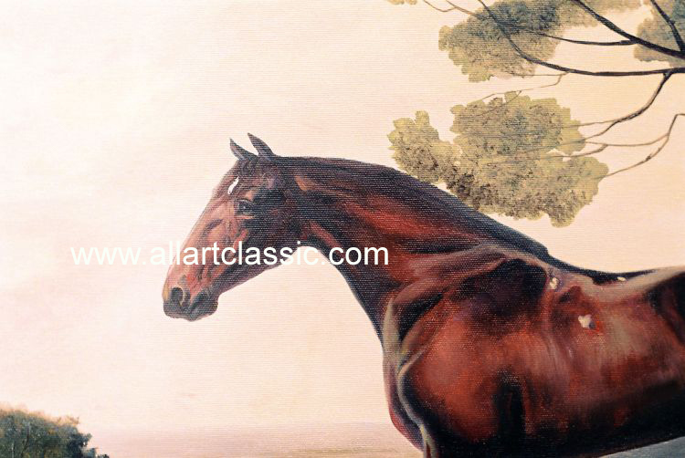 Art Reproductions George_Stubbs_Paintings_001N_A. Our Oil Painting Reproduction -Zoom Details