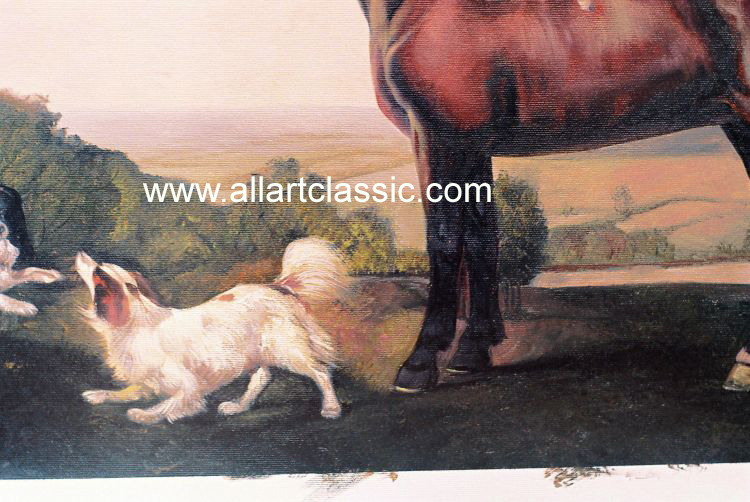 Art Reproductions George_Stubbs_Paintings_001N_B. Our Oil Painting Reproduction -Zoom Details