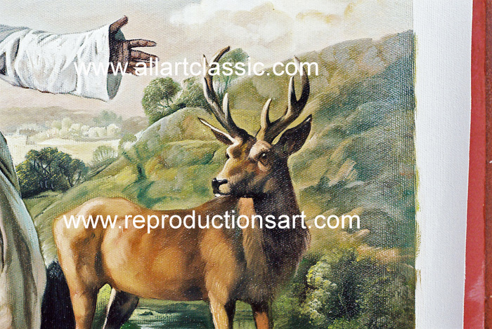 Art Reproductions George_Stubbs_Paintings_003N_A. Our Oil Painting Reproduction -Zoom Details