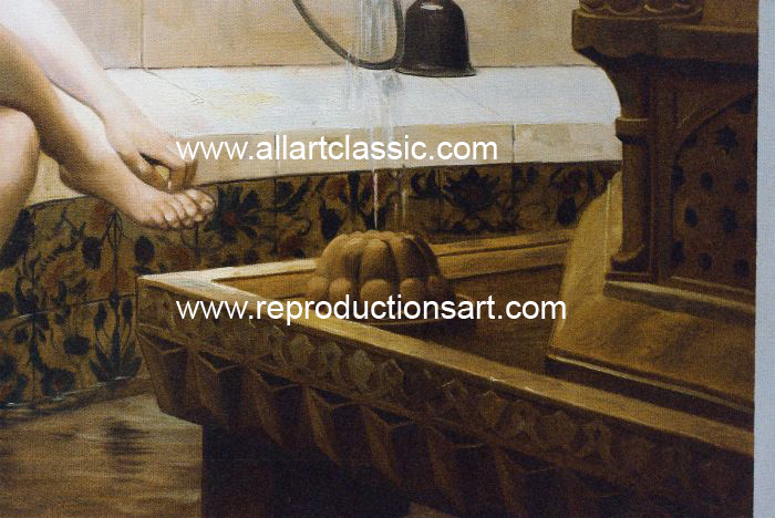 Art Reproductions Gerome01_001N_A. Our Oil Painting Reproduction -Zoom Details