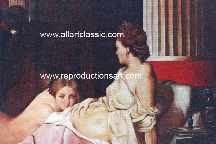 Art Reproductions Gerome_Grecian_Interior_001N_B. Our Oil Painting Reproduction -Zoom Details
