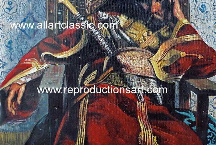 Art Reproductions Gerome_Paintings_001N_A. Our Oil Painting Reproduction -Zoom Details