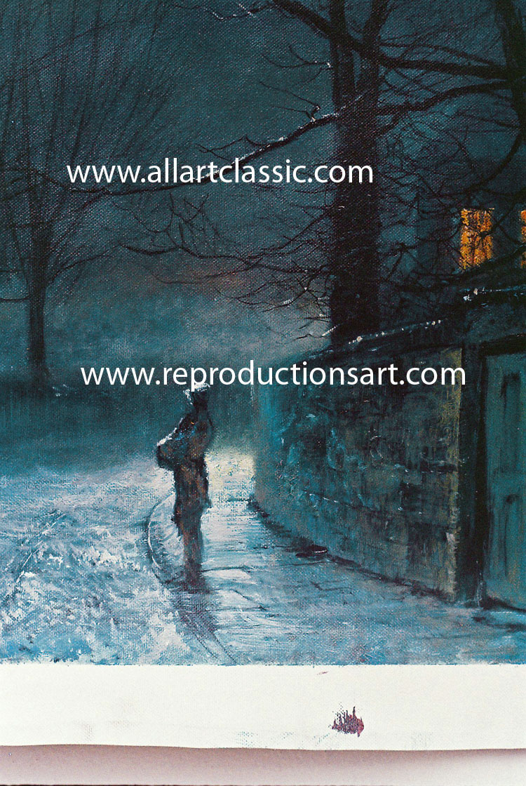 Art Reproductions Grimshaw-hand-painted-oil_A. Our Oil Painting Reproduction -Zoom Details