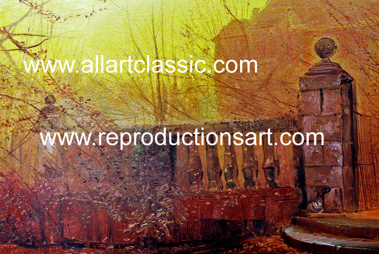 Art Reproductions Grimshaw_012N_A. Our Oil Painting Reproduction -Zoom Details