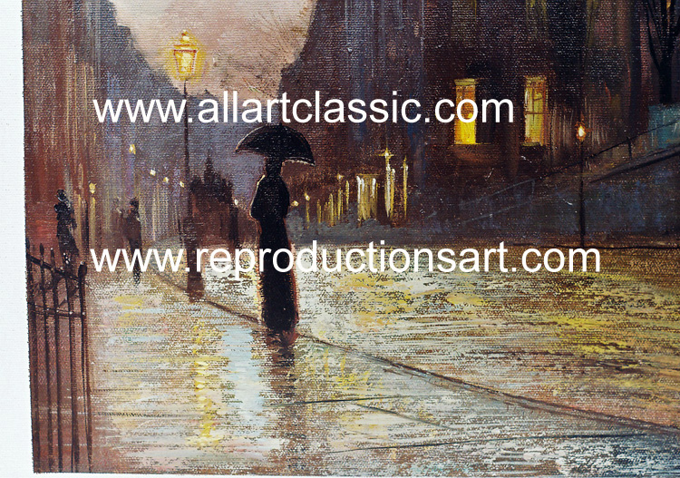 Art Reproductions Grimshaw_013N_B. Our Oil Painting Reproduction -Zoom Details