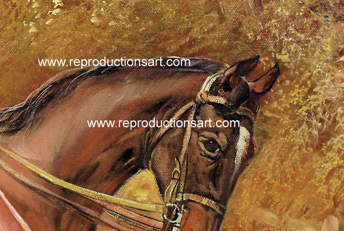 Art Reproductions Hardy_Going_to_Cover_001N_A. Our Oil Painting Reproduction -Zoom Details