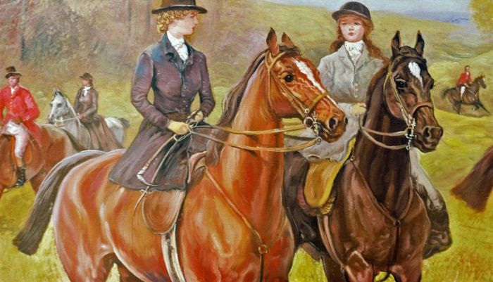 Art Reproductions Hardy_Going_to_Cover_001N_B. Our Oil Painting Reproduction -Zoom Details