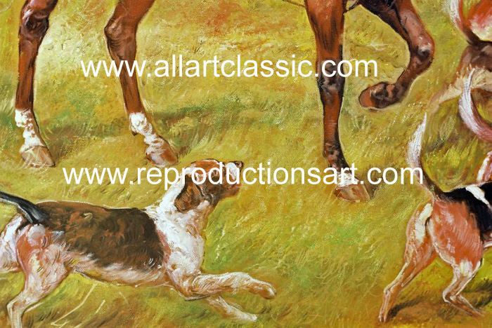 Art Reproductions Hardy_Going_to_Cover_001N_C. Our Oil Painting Reproduction -Zoom Details
