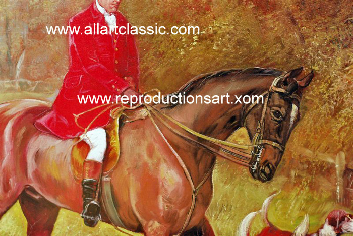 Art Reproductions Hardy_Going_to_Cover_001N_D. Our Oil Painting Reproduction -Zoom Details