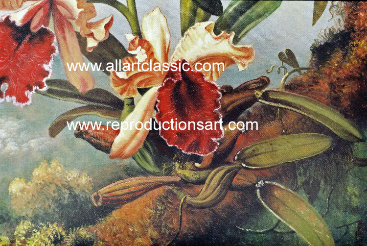 Art Reproductions Heade_220N_A. Our Oil Painting Reproduction -Zoom Details