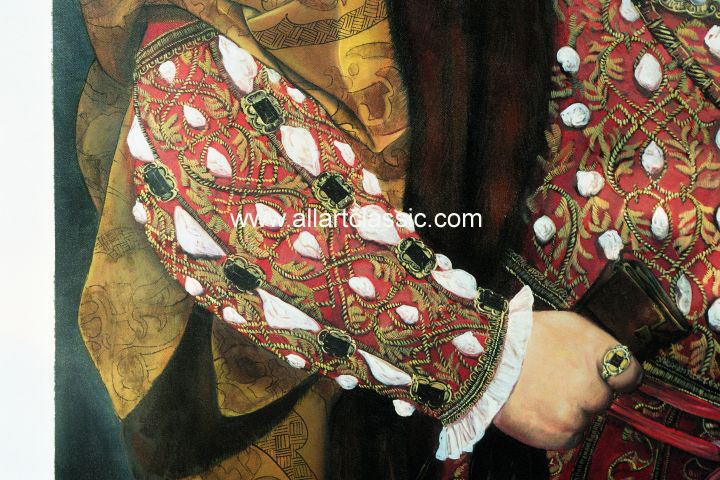 Art Reproductions Holbein_001N_B. Our Oil Painting Reproduction -Zoom Details