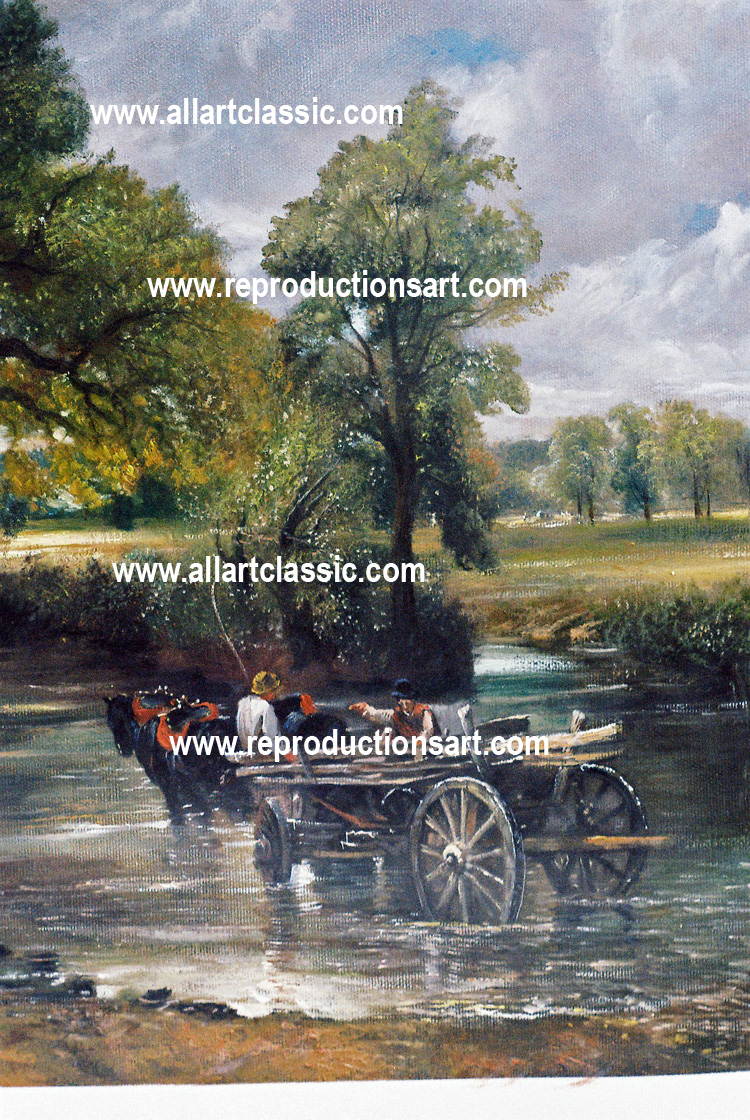 Art Reproductions J-Constable-painting_A. Our Oil Painting Reproduction -Zoom Details