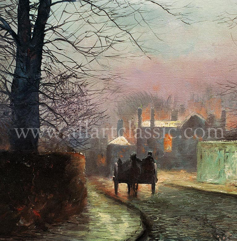 Art Reproductions John_Atkinson_Grimshaw_GRJ015N_A. Our Oil Painting Reproduction -Zoom Details