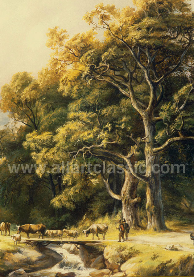 Art Reproductions KOB001N_C. Our Oil Painting Reproduction -Zoom Details