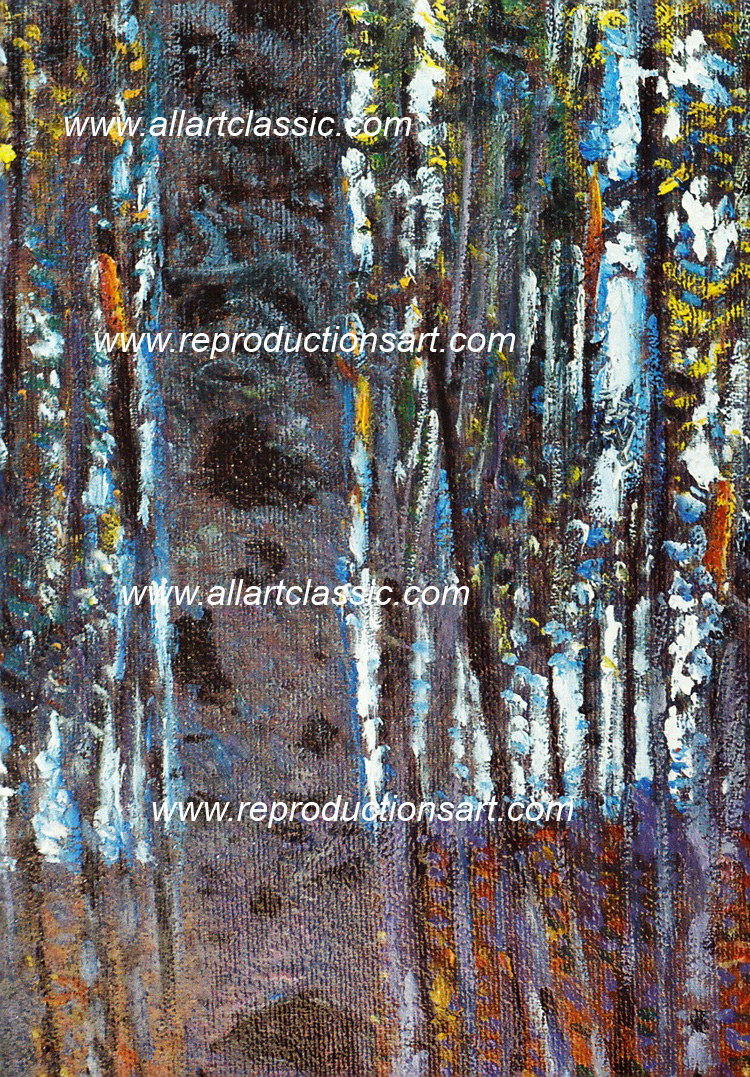 Art Reproductions Klimt_Beech_Wood_001N_A. Our Oil Painting Reproduction -Zoom Details