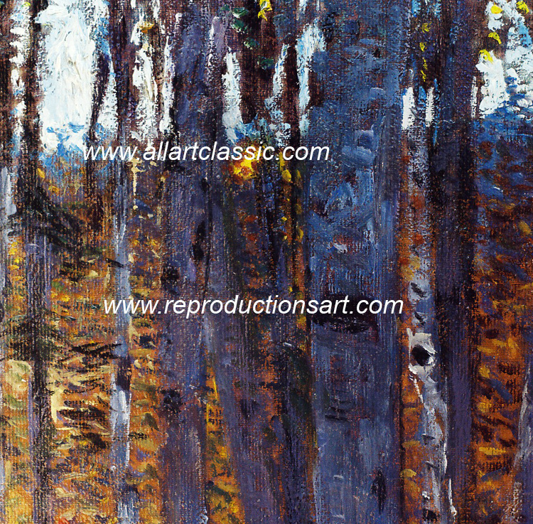 Art Reproductions Klimt_Beech_Wood_001N_C. Our Oil Painting Reproduction -Zoom Details