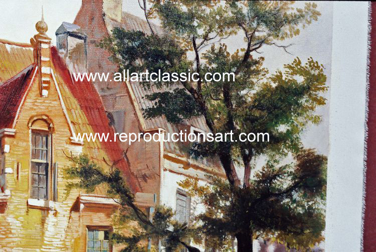 Art Reproductions Koekkoek_220N_A. Our Oil Painting Reproduction -Zoom Details