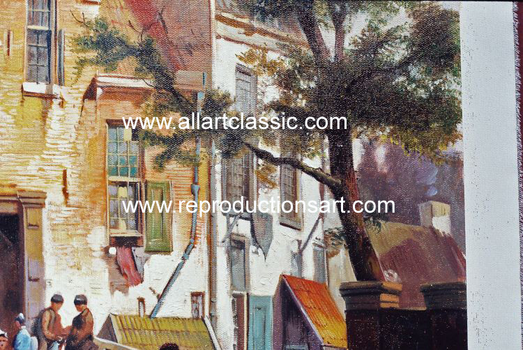 Art Reproductions Koekkoek_220N_C. Our Oil Painting Reproduction -Zoom Details
