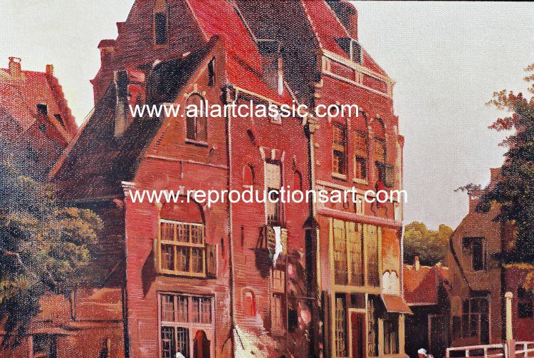 Art Reproductions Koekkoek_221N_C. Our Oil Painting Reproduction -Zoom Details