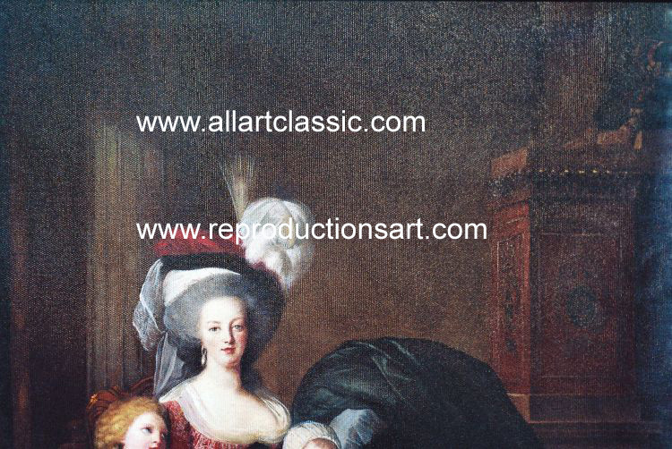 Art Reproductions Lebrun_220N_A. Our Oil Painting Reproduction -Zoom Details