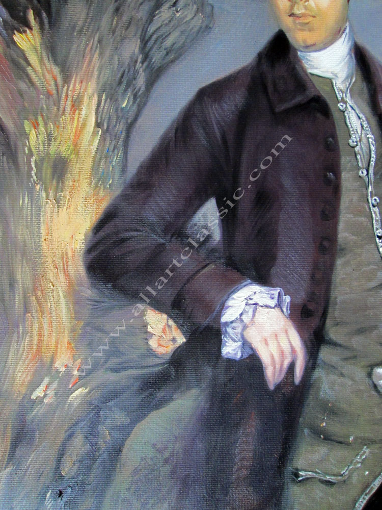 Art Reproductions Lord-Vernon-Gainsborough-L_B. Our Oil Painting Reproduction -Zoom Details