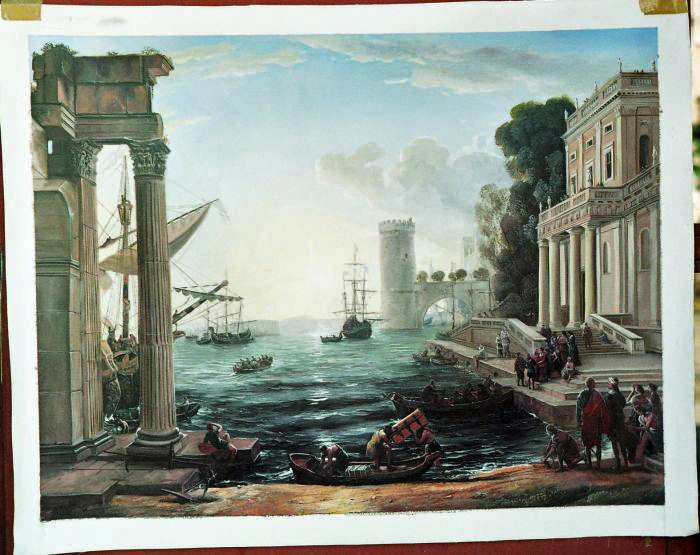 Claude Lorrain Painting Work sample