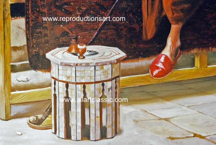 Art Reproductions Ludwig_Deutsch_001N_B. Our Oil Painting Reproduction -Zoom Details