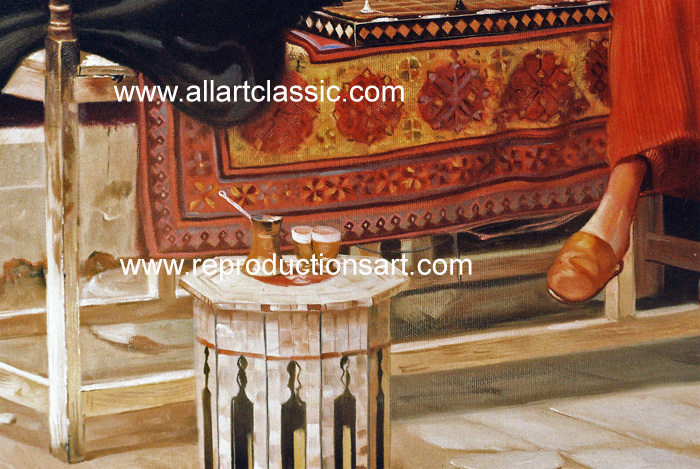 Art Reproductions Ludwig_Deutsch_122N_A. Our Oil Painting Reproduction -Zoom Details