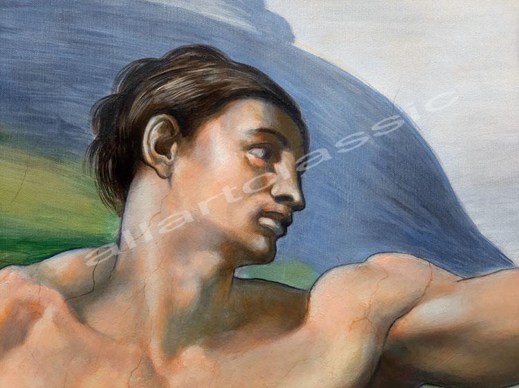 Michelangelo Adam Painting Work sample