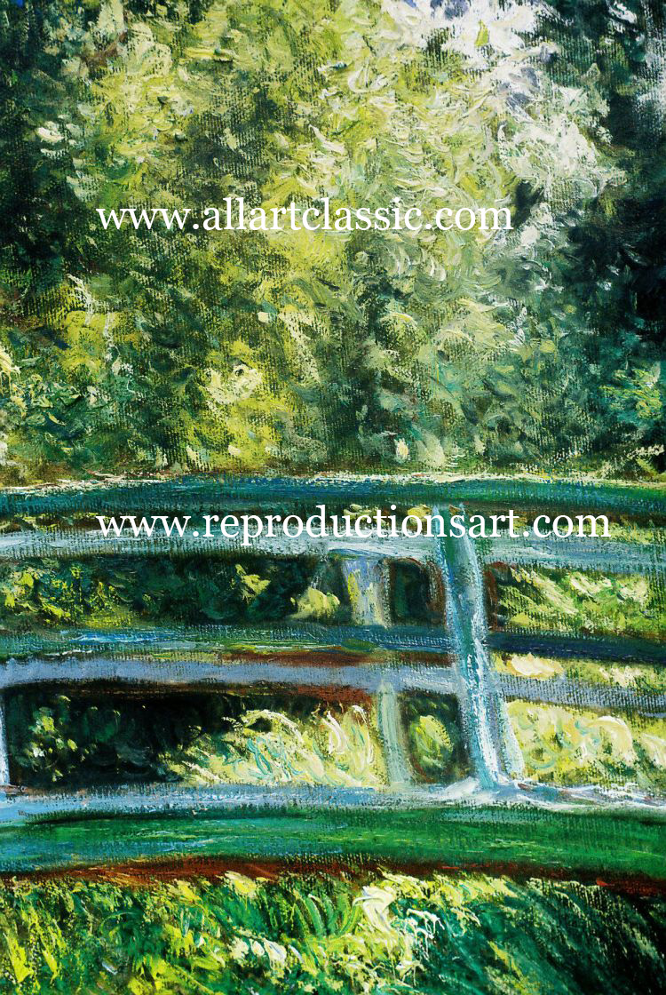 Art Reproductions Monet-Water-Lily-pond_C. Our Oil Painting Reproduction -Zoom Details