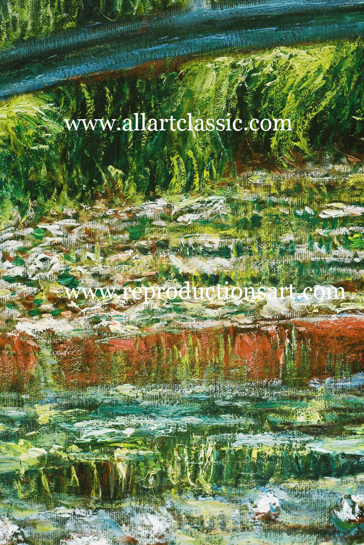 Art Reproductions Monet-Water-Lily-pond_D. Our Oil Painting Reproduction -Zoom Details