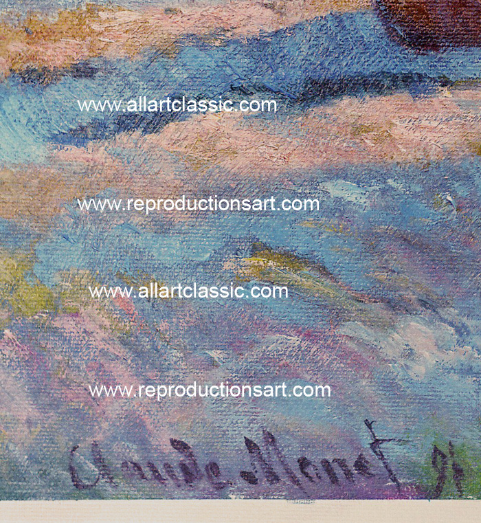 Art Reproductions Monet_Haystacks_001N_B. Our Oil Painting Reproduction -Zoom Details