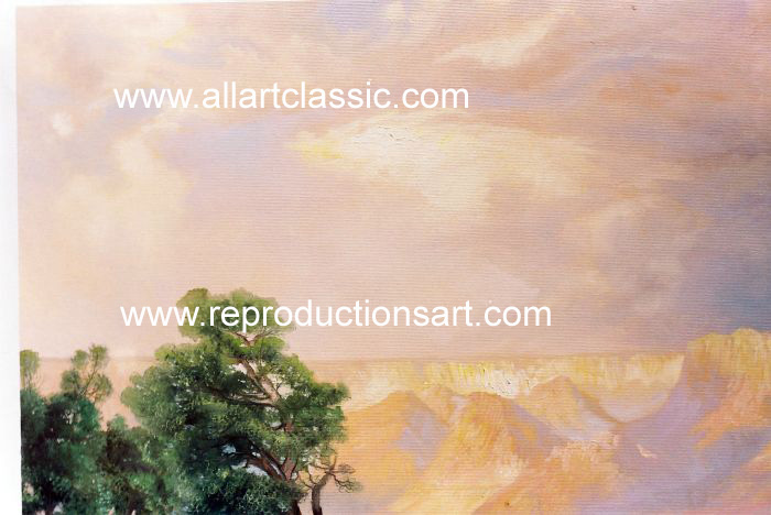 Art Reproductions Moran_098N_C. Our Oil Painting Reproduction -Zoom Details