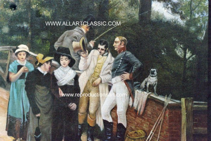Art Reproductions Morgan_001N_C. Our Oil Painting Reproduction -Zoom Details